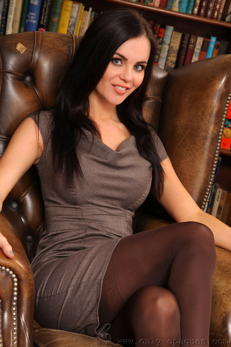 emma glover red lace lingerie and black stockings